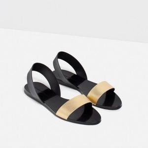 Zara Sandals with Gold Strap